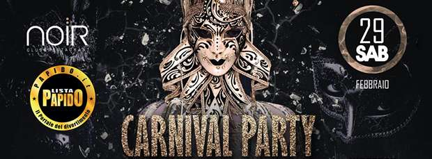 Carnevale Noir Club Sabato 29 Febbraio 2020