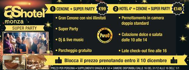 Music Party As Hotel Monza Capodanno 2016