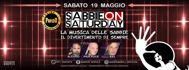 Sabbie on Saturday 2018 Sabbie Mobili sabato 19 maggio 2018