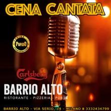 Cena Cantata a Milano Sabato 13 Novembre 2021