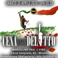 Sabato 25 Aprile 2020 Cena con Delitto Milano