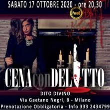 Sabato 17 Ottobre 2020 Cena con Delitto Milano