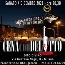 Sabato 4 Dicembre 2021 Cena con Delitto Milano
