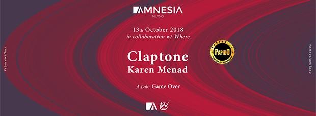 Claptone Sabato 13 Ottobre 2018 Amnesia Milano