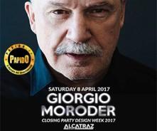 Giorgio Moroder Milano Alcatraz Sabato 8 Aprile 2017