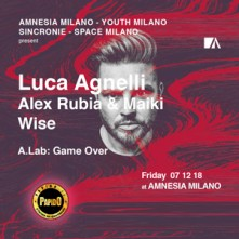 Venerdi 7 Dicembre 2018 Luca Agnelli Amnesia Milano