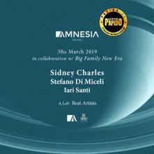 Sabato 30 Marzo 2019 Sidney Charles Amnesia Milano