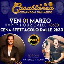 Cenando e Ballando il 1 Marzo 2019 Sio Cafe Milano
