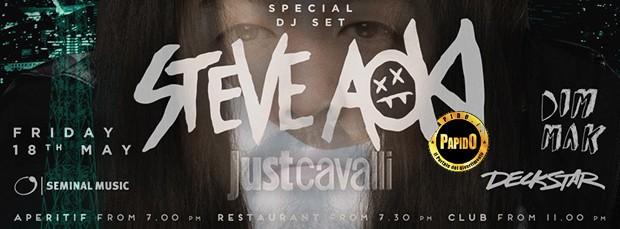 Steve Aoki Just Cavalli venerdi 18 maggio 2018