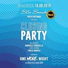 Closing Party Domenica 18 Agosto 2019 Blu Beach Porto Rotondo