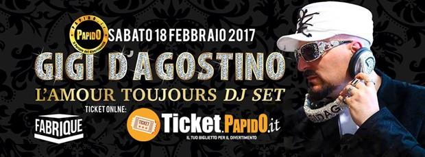 Gigi D'Agostino Sabato 18 Febbraio a Fabrique