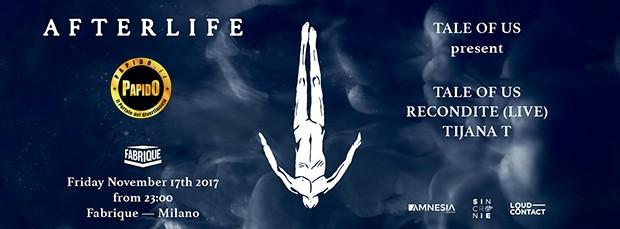 Venerdi 17 Novembre 2017 - Tale of Us Fabrique Milano